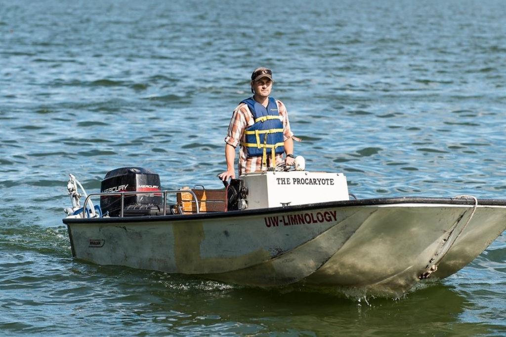 Luke Loken on Lake Mendota with FLAMe